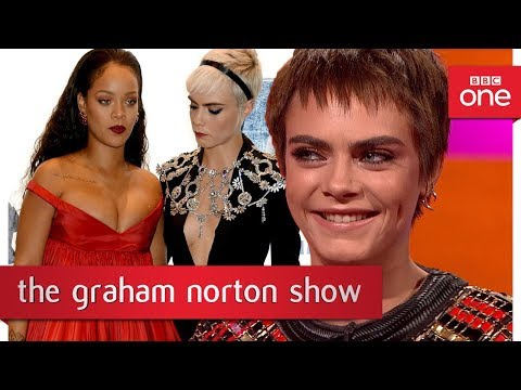 Download Youtube: Cara Delevingne's funny photo with Rihanna & Emma Thompson -The Graham Norton Show: 2017 - BBC One