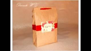 Крафт пакет. Упаковка подарков. Бонбоньерки на свадьбу или на вечеринку.(, 2016-07-03T18:55:36.000Z)
