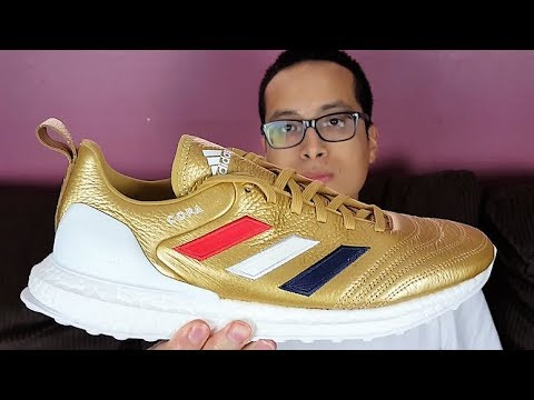 sports shoes 2fa31 05af2 Best Kith  Adidas Collab! Kith x Adidas COPA Mundial 18+ Ultra Boost  Golden Goal Review!