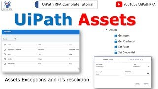 UiPath Assets in Orchestrator | UiPath Orchestrator Tutorial | UiPath RPA