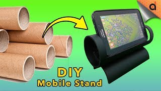 How to Make DIY Mobile Stand Made of Paper Tube