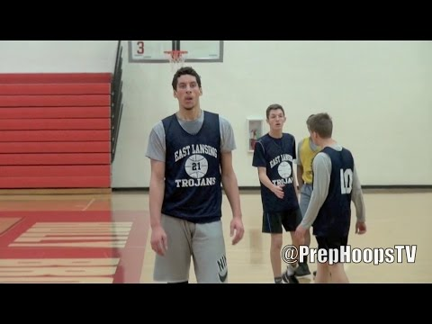 Brandon Johns 2018 East Lansing High School scrimmage highlights