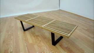 Wholesale Interiors Nelson Style Wooden Bench-natural