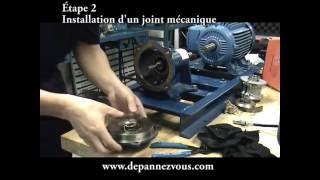 Mécanique industrielle- Inspection d'une pompe non-volumétrique (centrifuge)