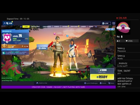 ||Fortnite Live! Girl PS4 Player - 500+ WINS! - SEASON 8 GRIND - ITEM SHOP UPDATE||