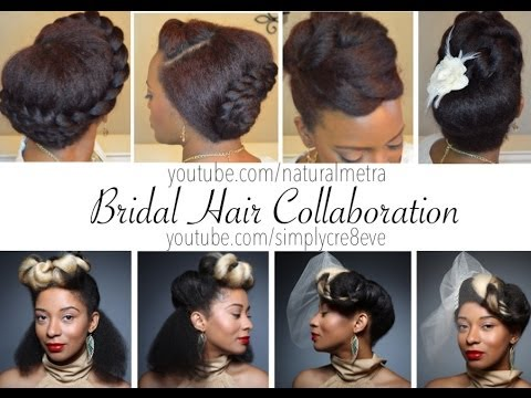 53 Natural Hair Style Bridal Hair Style Collaboration W