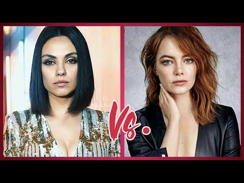 Emma Stone Vs.  Mila Kunis Sexy Beautiful Photos 2020