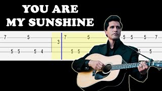 Johnny Cash - You Are My Sunshine (Easy Ukulele Tabs Tutorial)