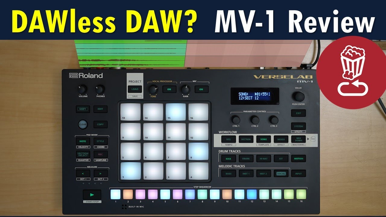 Download DAW-less DAW? MV-1 VERSELAB Review and full song-making tutorial for Roland's portable studio