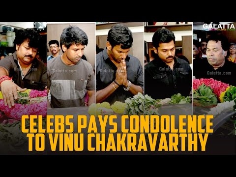 Celebs pays condolence to Vinu Chakravarthy