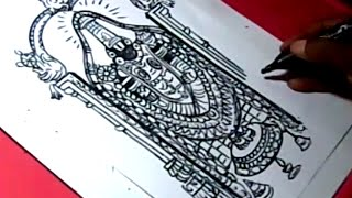 How to Draw LORD VENKATESWARA SWAMY DRAWING for kids