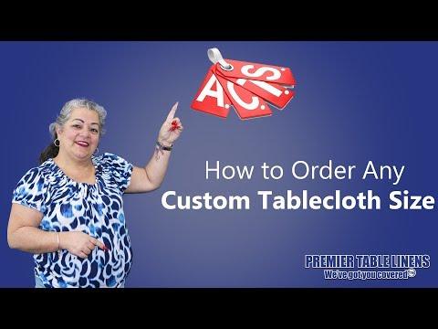 Any Custom Size Tablecloth (Order Custom Table Linens)