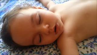 Funny baby snoring