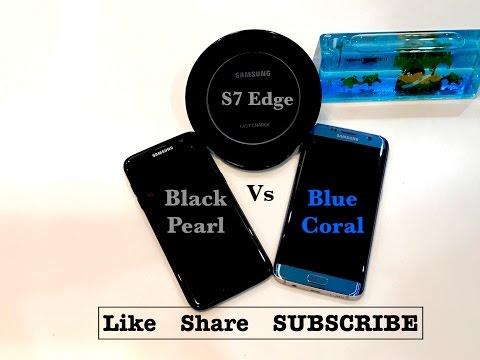 Galaxy S7 Edge Black Pearl Vs Blue Coral Colour Comparison