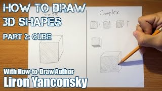 How to Draw 3D Shapes - Part 2: Cube