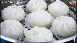 BÁNH BAO CHAY - Bí quyết để Vỏ Bánh bao trắng và xốp mềm by Vanh Khuyen