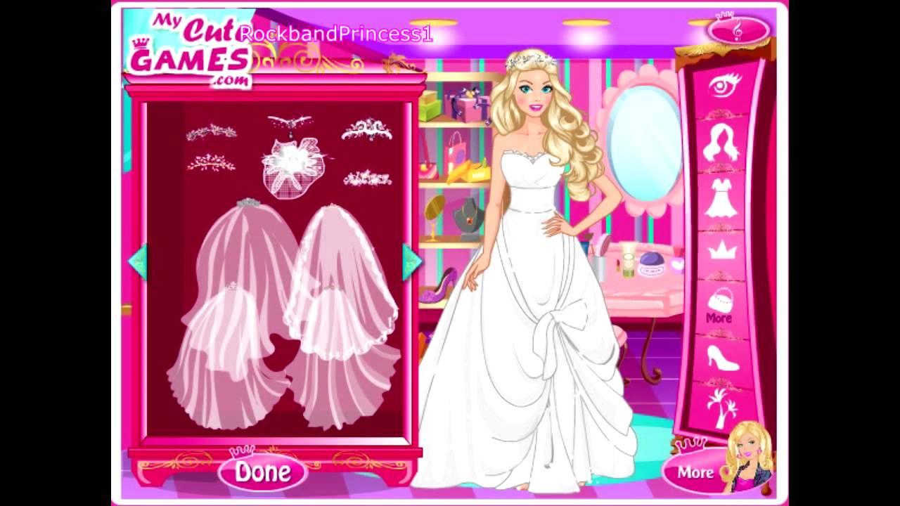Wedding Barbie Dress Up Games Youtube