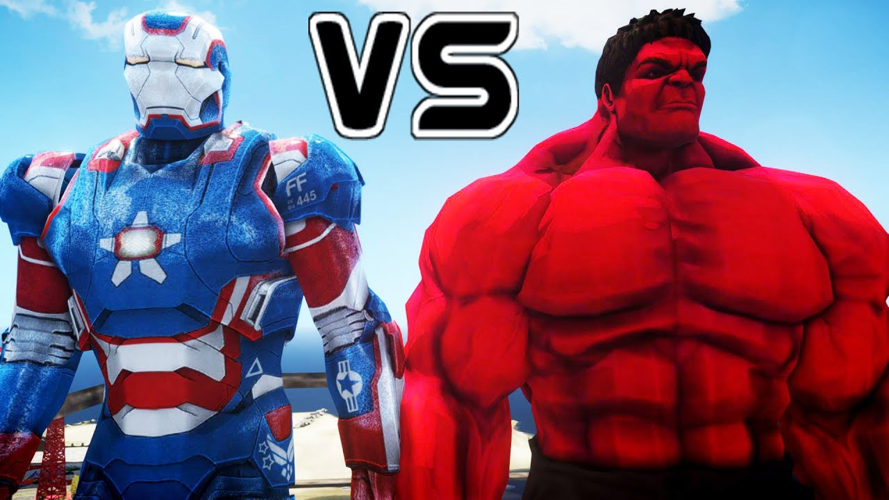 IRON PATRIOT VS RED HULK - EPIC BATTLE - YouTube