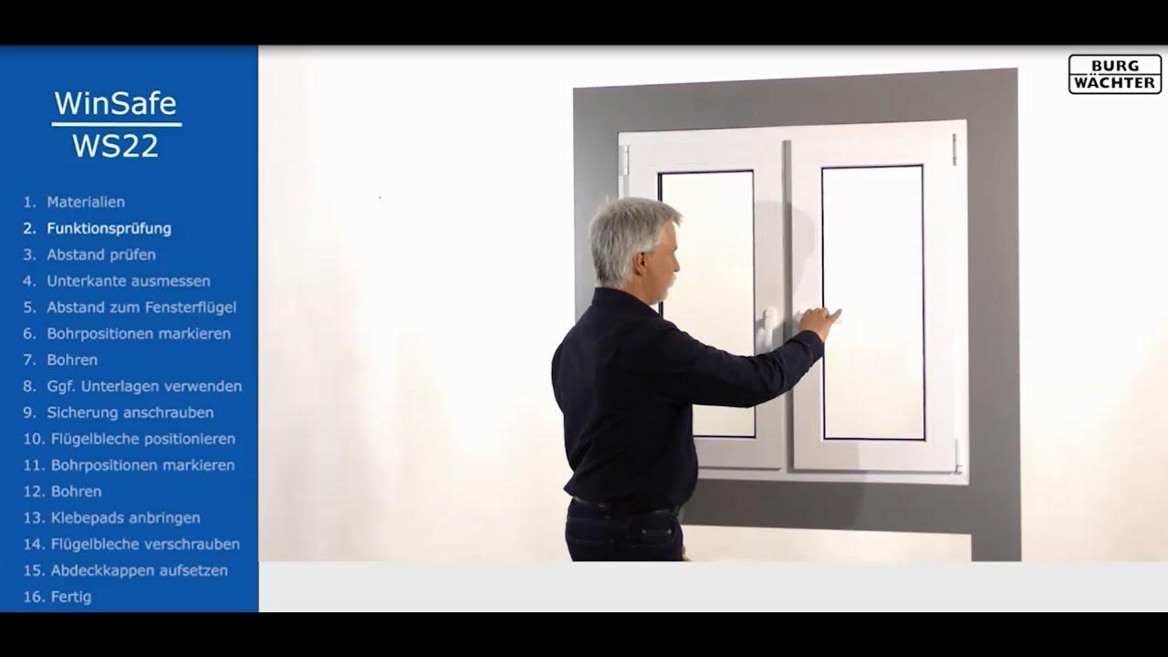 burg w chter fenstersicherung ws22 montageanleitung youtube. Black Bedroom Furniture Sets. Home Design Ideas