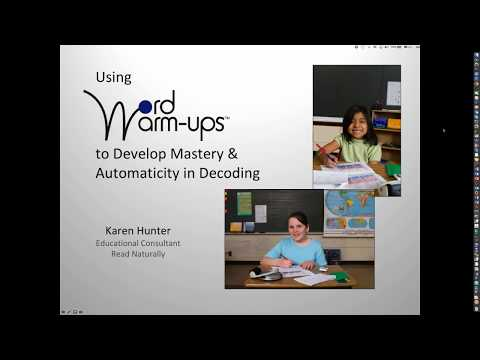 Webinar: Using Word Warm-ups to Develop Mastery and Automaticity in Decoding
