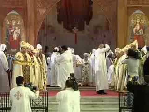 New priests' Ordination in St. Mark Cathedral, Abbassia, Cairo, Egypt 14 November 2013