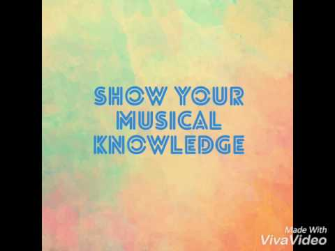 Show your musical knowledge