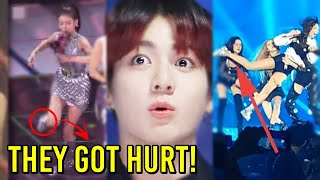 KPOP IDOLS FALLING ON STAGE (BLACKPINK, BTS, TWICE...)