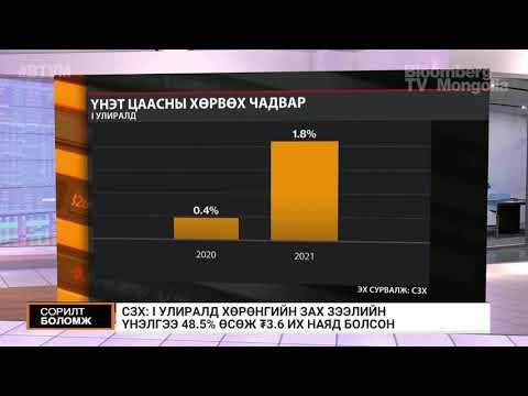 СЗХ: I улиралд хөрөнгийн зах зээлийн үнэлгээ 48.5 хувиар өсөв
