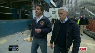 Gov. Cuomo tours World Trade Center after Sandy