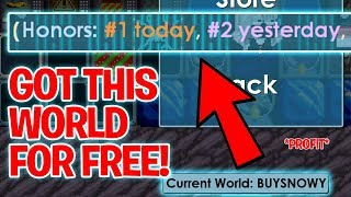 GOT THIS WORLD FOR FREE (HUGE PROFIT) | Growtopia Winterfest
