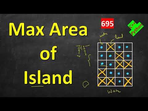 Max Area of Island | LeetCode 695 | C++, Python