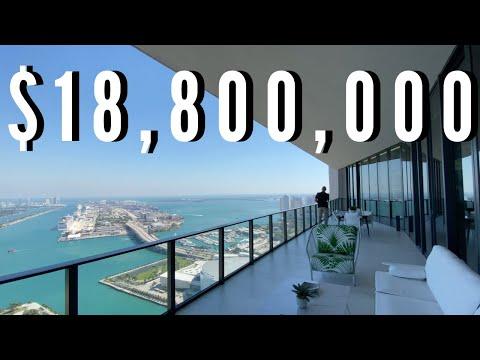 $18,800,000 PENTHOUSE IN MIAMI, FL | Walk Through Tour | Luxury Home Tours: EP6