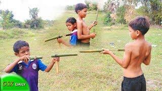 Toys Gun made of bamboo