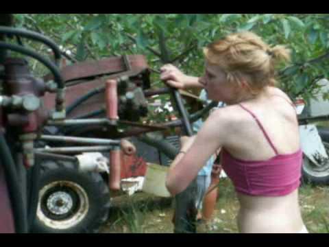 cherry harvesting machine