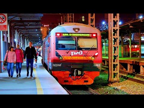 Railway. EMU Train ED9M Arrives At Vladivostok Station/ Электропоезд ЭД9М прибывает во Владивосток