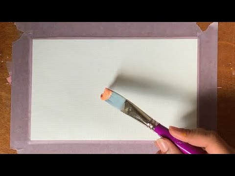 -How to Paint Easy Geometrical Art with Acrylics & Masking Tape | Painting Demonstration