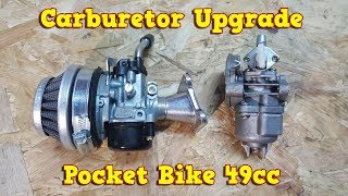 WOOSTAR 15mm Carburetor Replacement for 47cc 49cc 2 Stroke Mini Pocket Bike Quad Chopper Scooter Engine