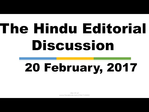 Hindi,20 February, 2017, The Hindu Editorial Discussion, Bangalore's Lake fire,Judicial law making