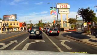 Driving Sunset Boulevard, Los Angeles, California