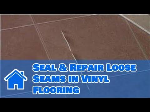 vinyl flooring maintenance cleaning how to seal repair loose seams in vinyl flooring