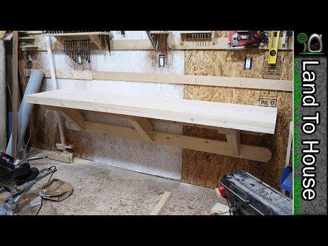 DIY Wall Mount Workbench - Build a Workshop #54