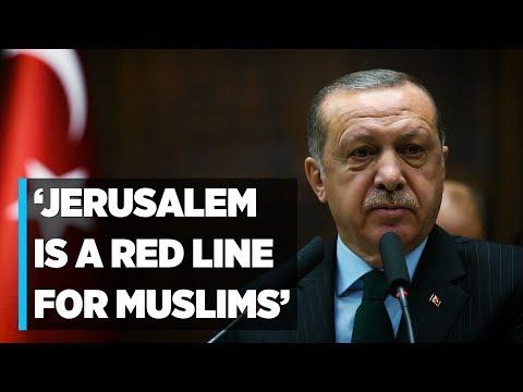 Erdogan: Jerusalem is 'red line' for Muslims