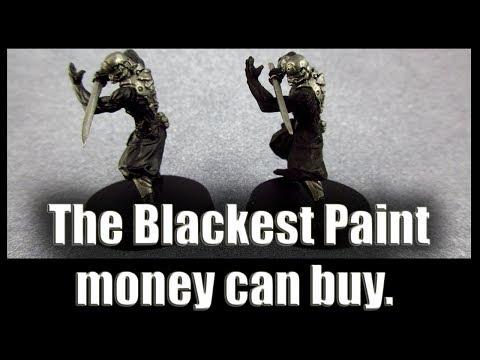 The Blackest Paint money can buy. Good Miniature Monday!