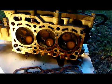 Дэу матиз, ремонт ДВС, разборка, демонтаж ГБЦ 1#