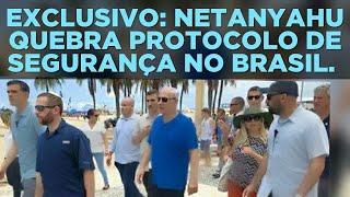VÍDEO 5981. EXCLUSIVO: BENJAMIN NETANYAHU QUEBRA PROTOCOLOS DE SEGURANÇA PARA FALAR COM BRASILEIROS.