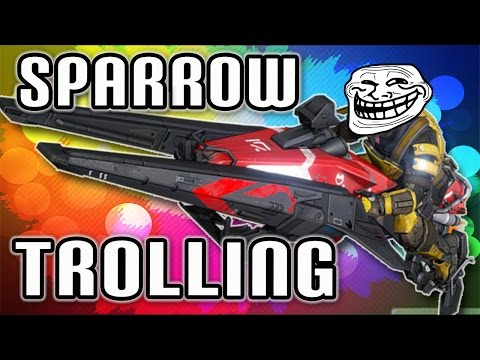 Destiny - Funny Moments - Trolling, Tank & Sparrow Kills,Bubbles,Good Lobby