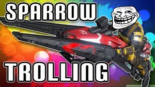 Destiny - Funny Moments - Trolling, Tank & Sparrow Kills,Bubbles,Good Lobby