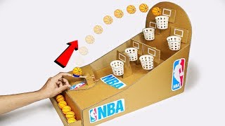 How to make NBA Basketball Board Game from Cardboard DIY at Home thumbnail
