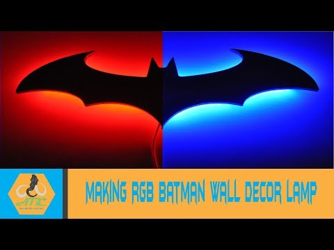 Making RGB Batman wall decor lamp