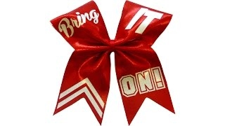 How to put text on a cheer bow with Lisa Pay